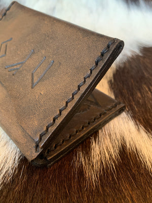 Vilon Leather Rune Script Wallet