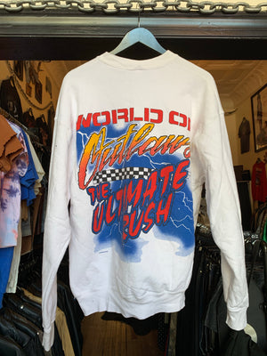 Vintage White World Of Outlaws Syracuse Supernaturals Racing Pullover Sweatshirt