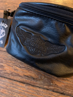 Vintage Harley-Davidson Black Leather Fanny Pack