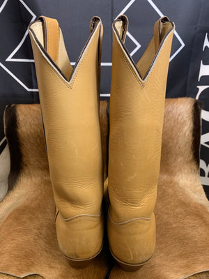 Justin's Tan Leather Classic Cowboy Boots