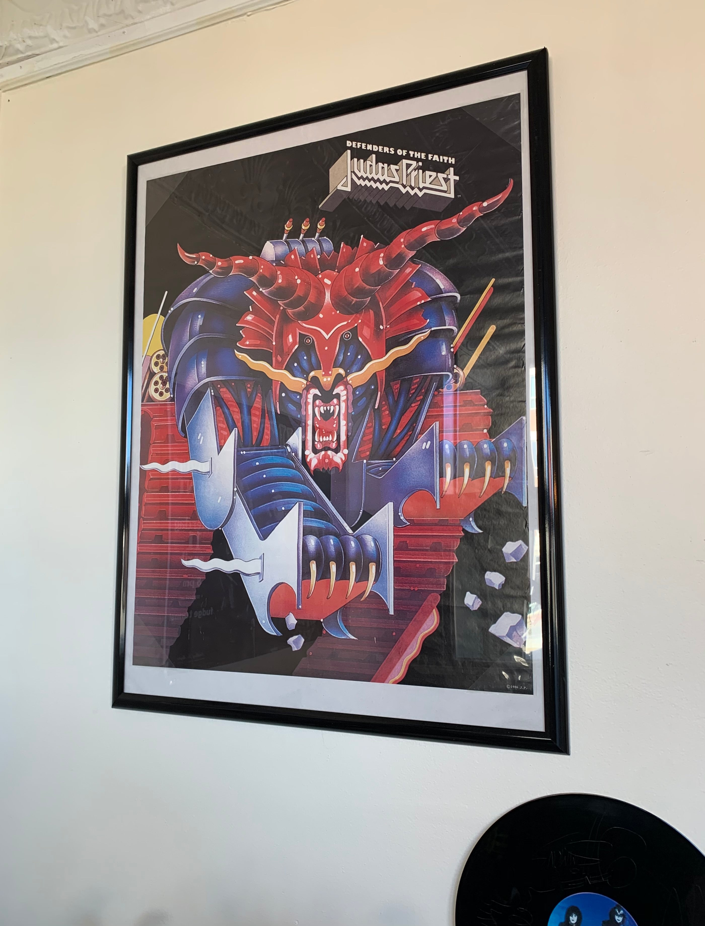 1984 Deadstock Judas Priest Defenders Of The Faith Framed Poster
