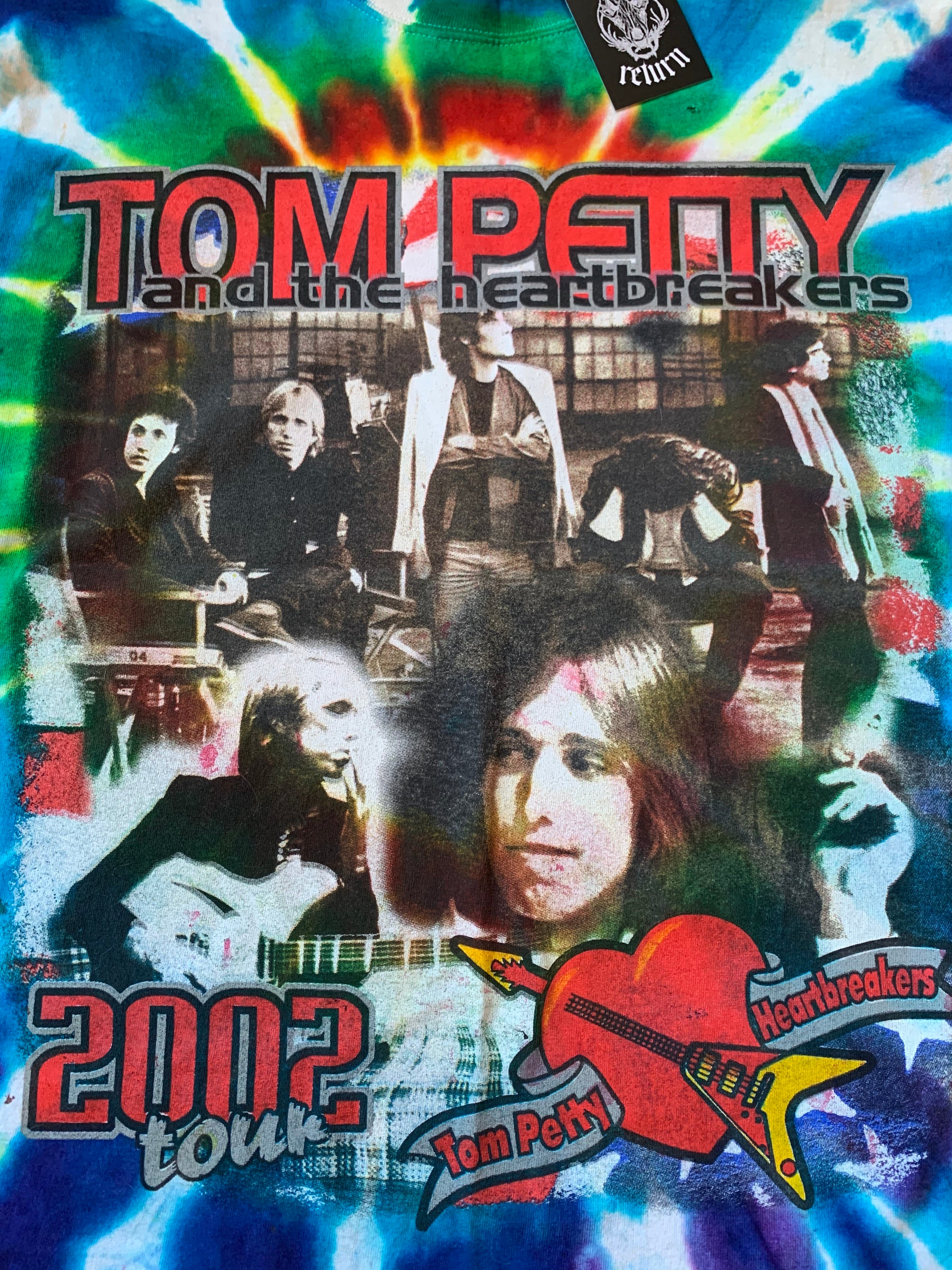 2002 Tom Petty and the Heartbreakers Tie Dye Tour Tee