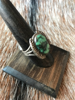 Vintage Handmade Sterling Turquoise Ring