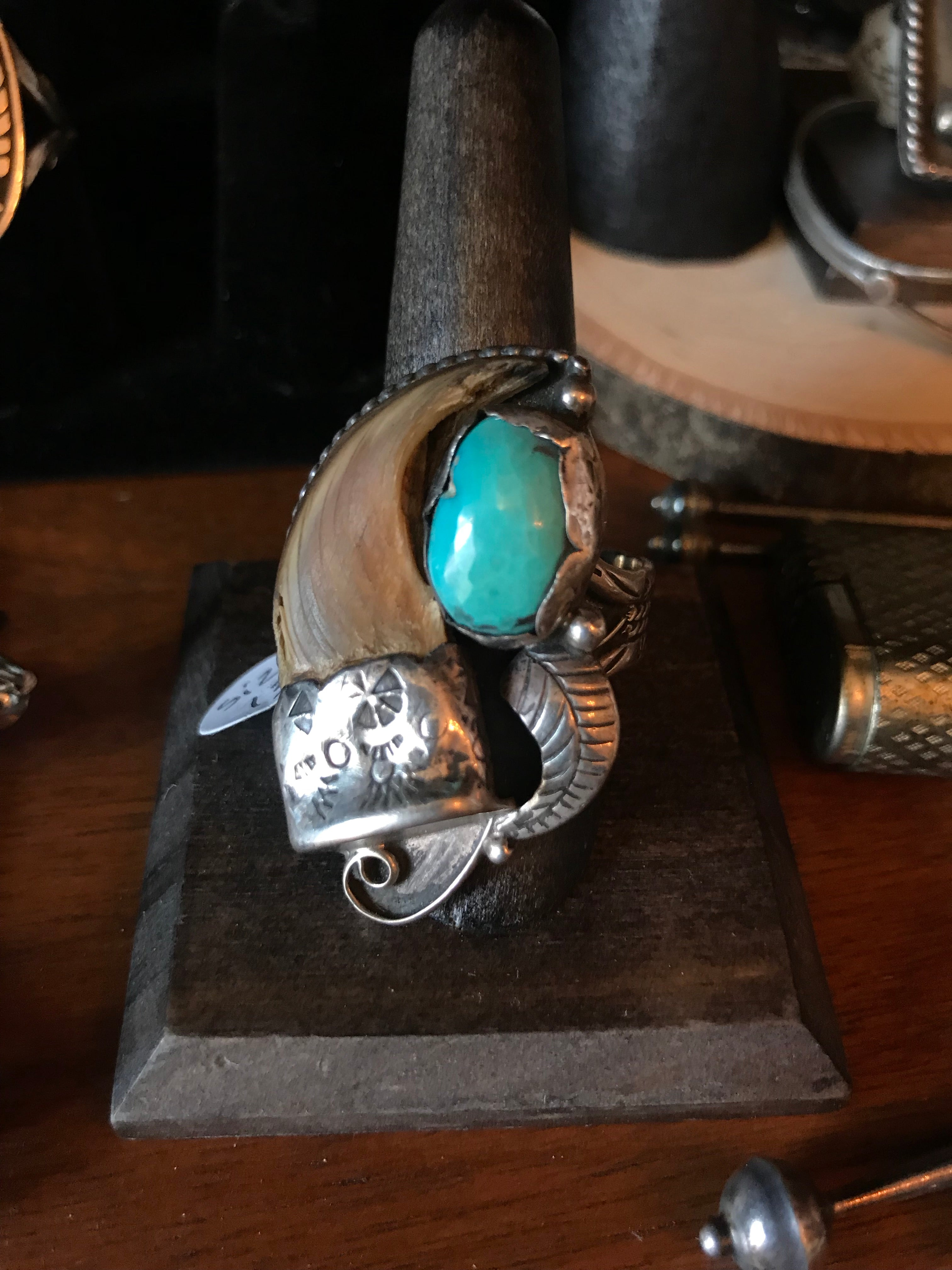 HUGE Badass Claw and Turquoise Ring