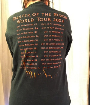 2004 Dio Master Of The Moon World Tour Long Sleeve Tee