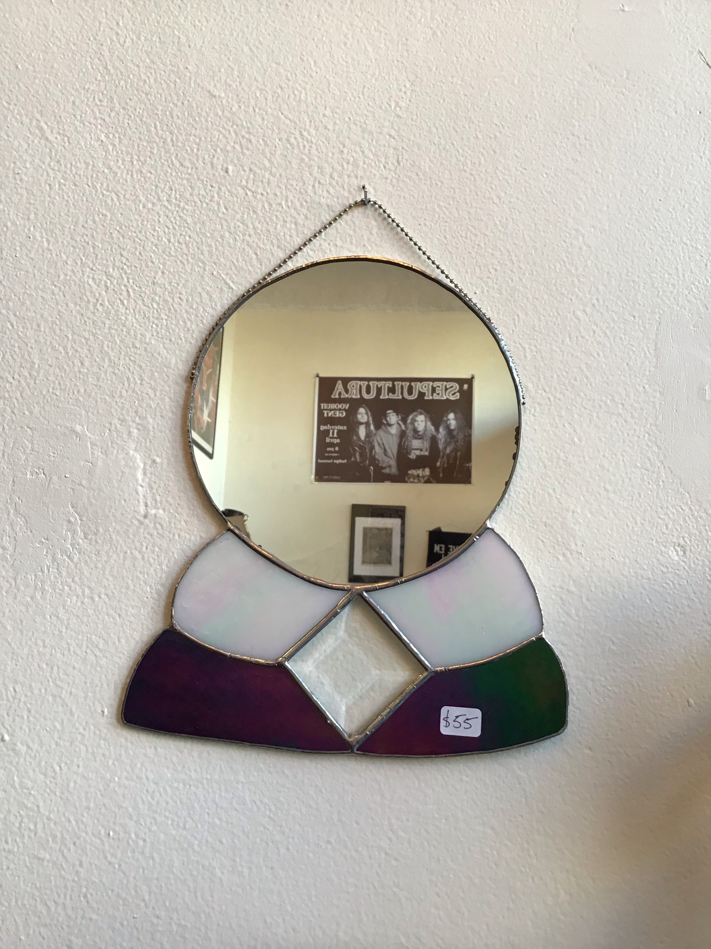 Crystal Ball Stained Glass Mirror by Imaginary Mirrors
