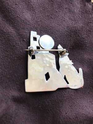 Howl At The Moon Brooch
