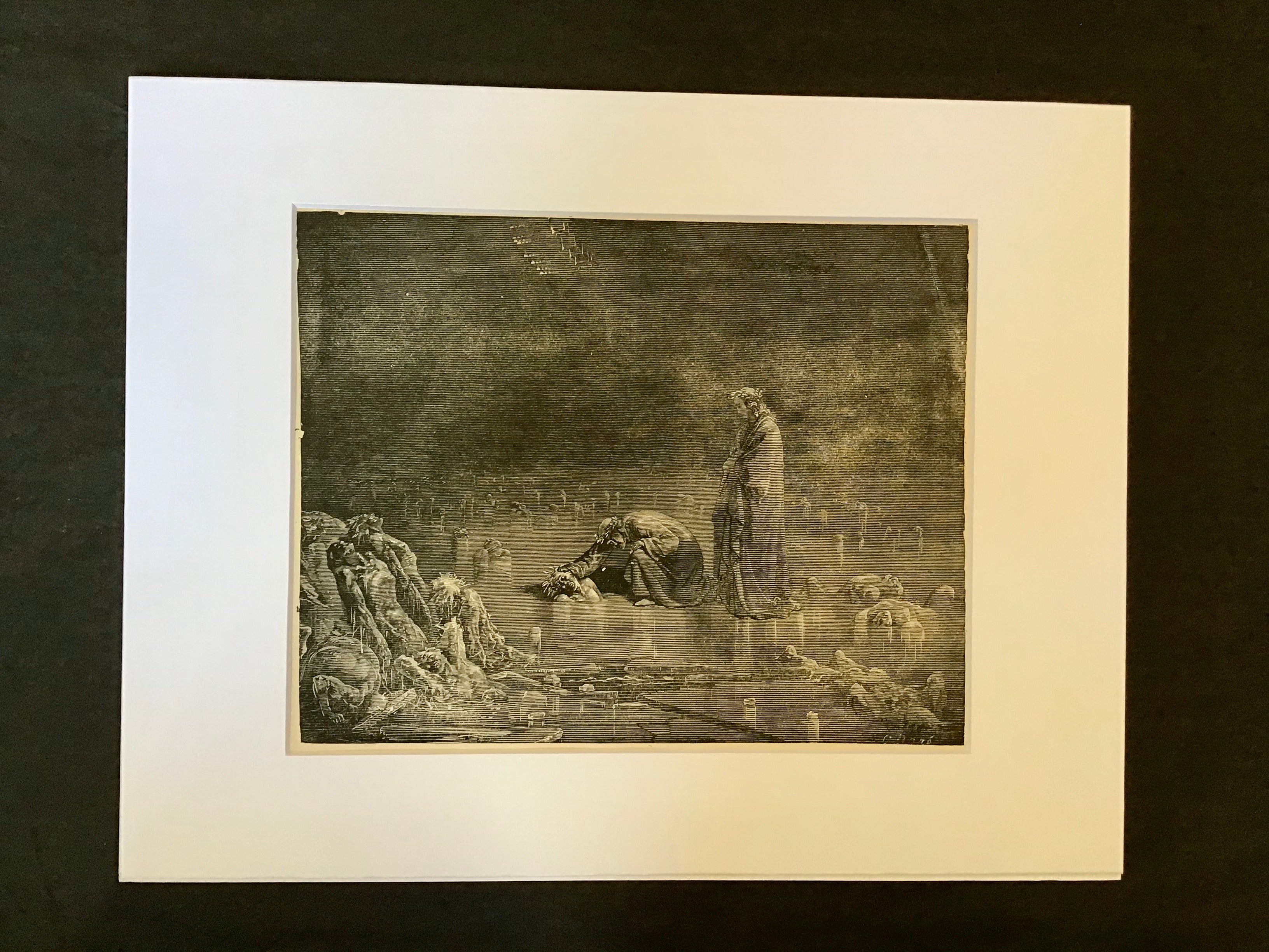 Gustave Doré Matted Print-Canto XXXII Lines 97, 98