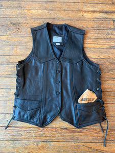 Vintage Steer Brand Lace-Up Moto Vest