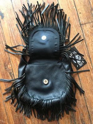 Harley Davidson Leather Fringe Belt Bag