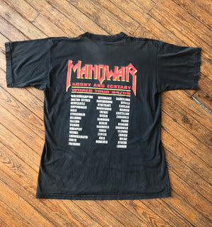 Vintage Manowar Agony and Ecstasy Tour Shirt