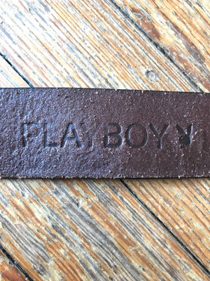 Brown Leather Playboy Belt w/ Buckle