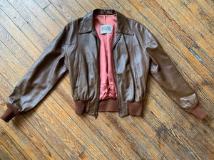 Vintage Hand Painted Pleasure Seekers Bomber Jacket