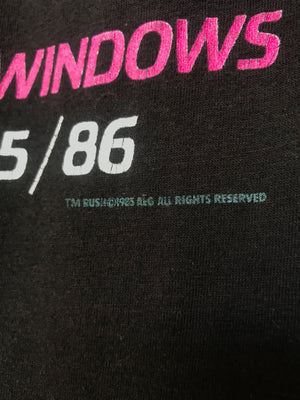 Vintage 80's Rush Power Windows Tour Tee