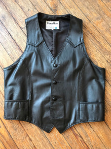 Vintage Pioneer Wear Leather Vest