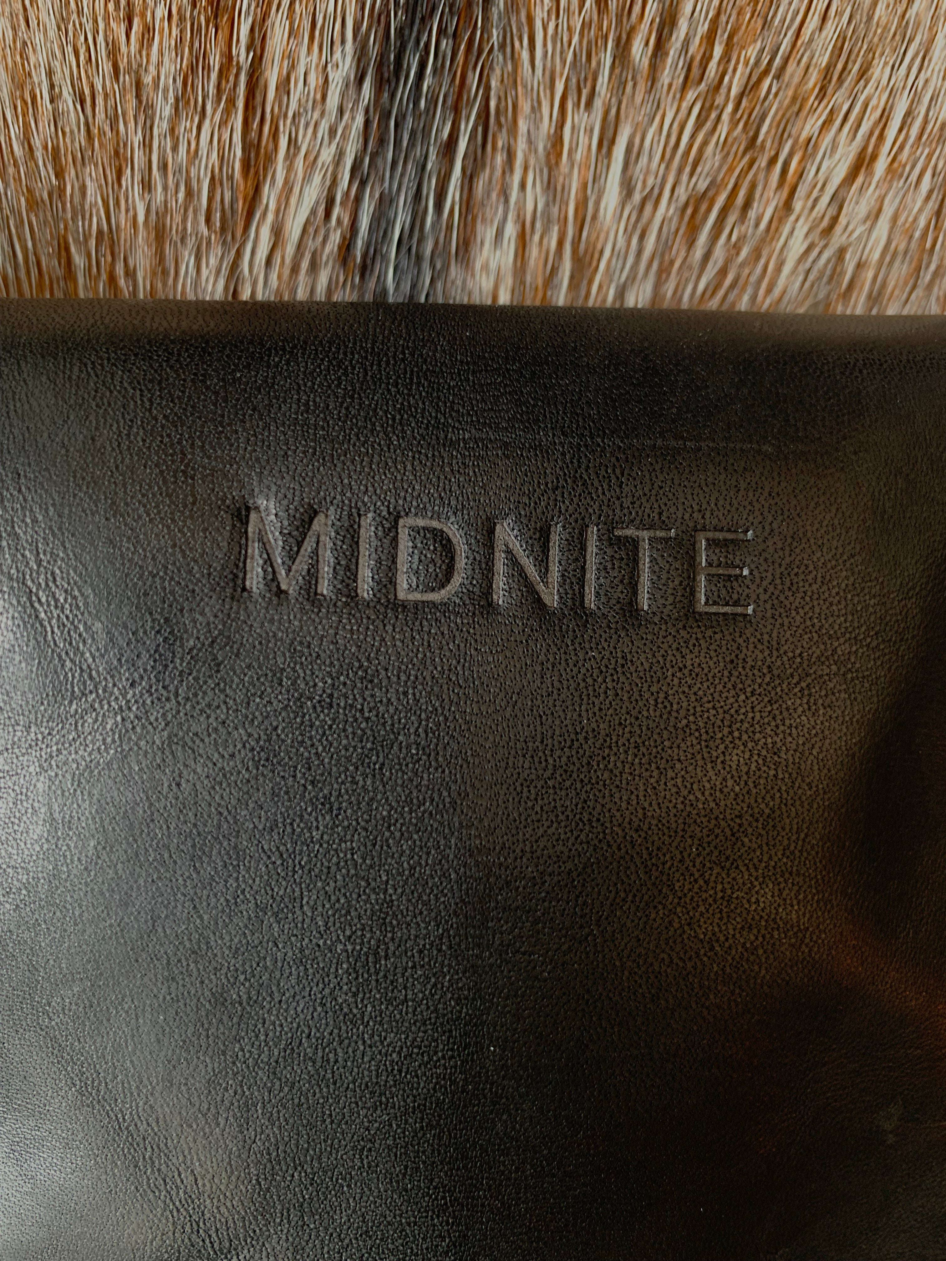 Midnite Leather Brand Fringe Belt Bag