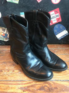J Chisholm American Made Black Pull On Boots