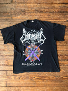 Vintage Unleashed 1995 Victory Odin Guide My Sword Tour T-Shirt