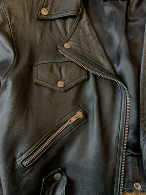 Super Soft Vintage BEBE Leather Moto Jacket