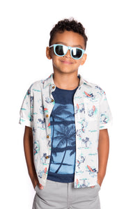 Surf Waves Pattern Shirt