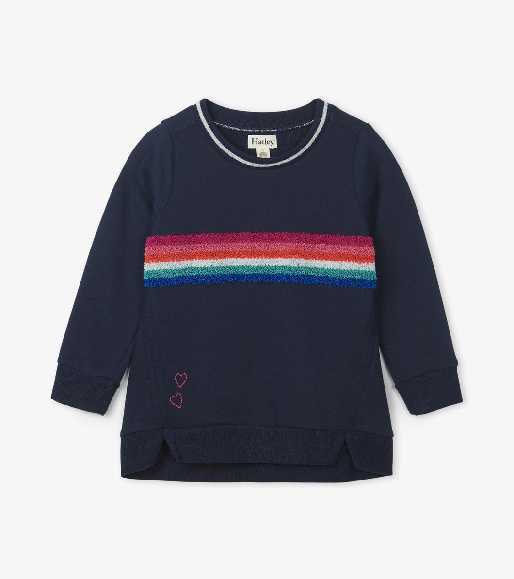 Retro Rainbow Stripe Pullover