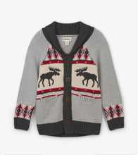 Load image into Gallery viewer, Moose Cabin Shawl Collar Cardigan