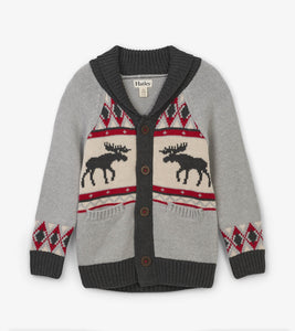 Moose Cabin Shawl Collar Cardigan