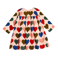 Load image into Gallery viewer, Courtney Dress - Strawberry Cream Multi Hearts