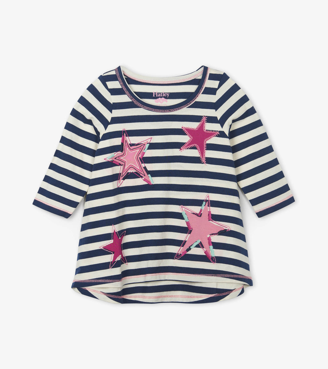 Starry Stripes Long Sleeve Tee