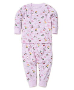 Frosty Friends Pajama Set Snug PRT - Pink