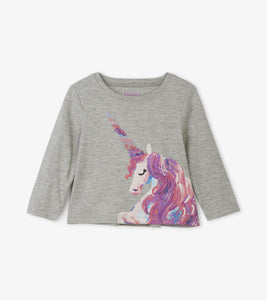 Enchanted Unicorn Long Sleeve Baby Tee