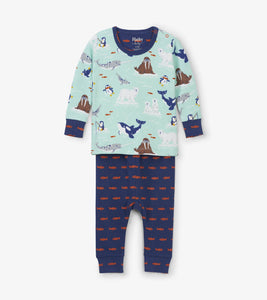 Arctic Friends Organic Cotton Baby Pajama Set