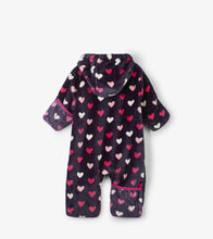Load image into Gallery viewer, Lovey Hearts Fuzzy Fleece Baby Bundler