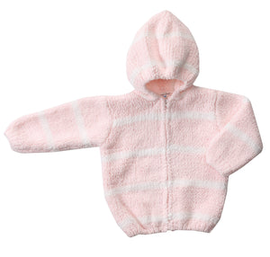 Pink & Ivory Hooded Chenille Jacket