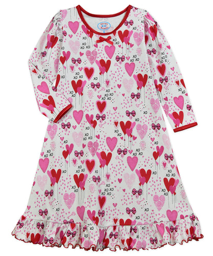 Puffed L/S Gown Heart Balloons