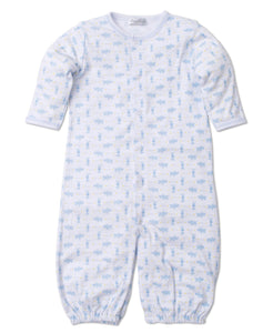 Pups in a Row Converter Gown - Light Blue