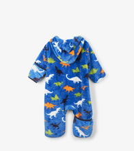 Load image into Gallery viewer, Dino Herd Fuzzy Fleece Baby Bundler