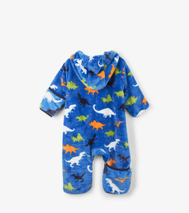 Dino Herd Fuzzy Fleece Baby Bundler