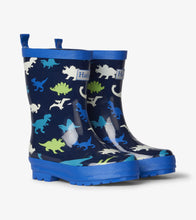 Load image into Gallery viewer, Dino Herd Shiny Rain Boots
