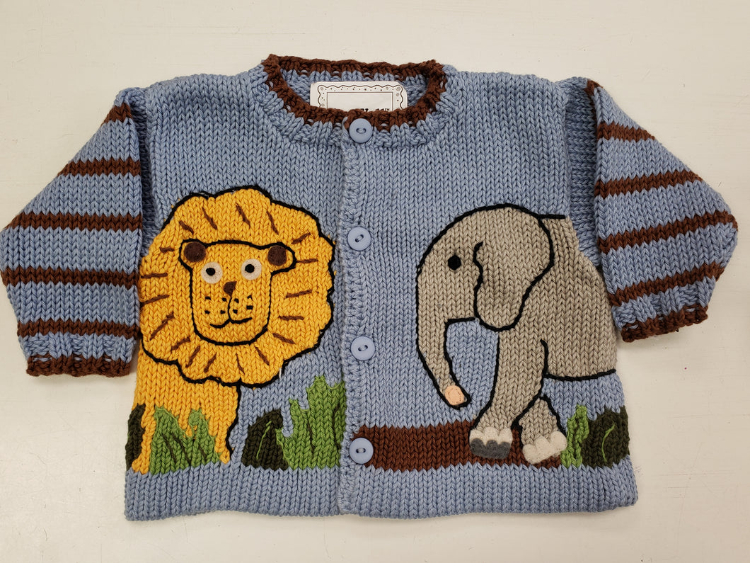 Noah's Ark Sweater in Blue