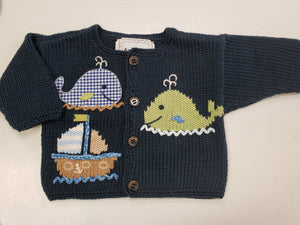 Whale Watch Sweater in Blue