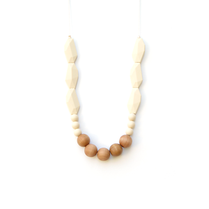 Joan Wood + Silicone Teething Necklace - Beige