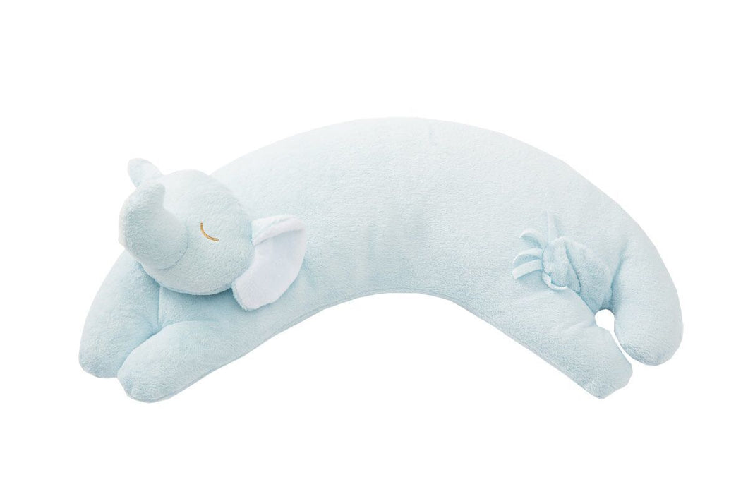 Blue Elephant Curved Nap Pillow