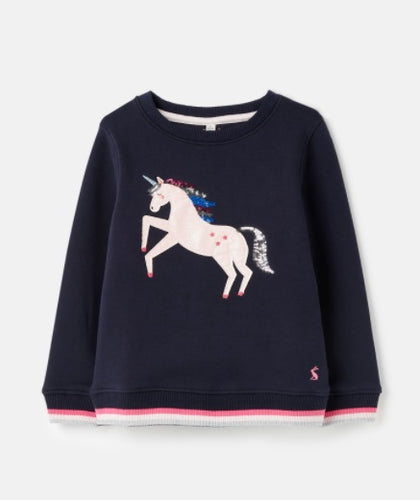 Mackenzie Artwork Sweatshirt - Navy Unicorn