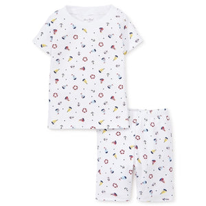 Summer Sails Print Pajama Set