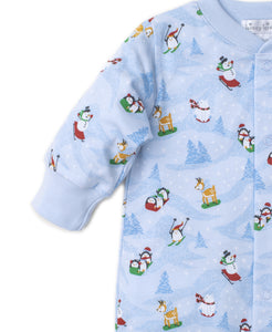 Frosty Friends Footie PRT - Light Blue