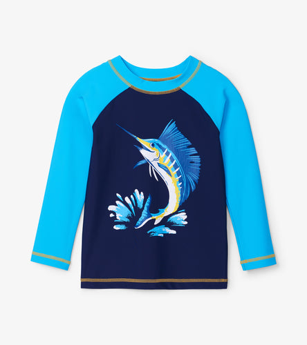 Game Fish Long Sleeve Rashguard - Blue Coral