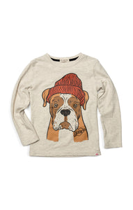 Graphic Long Sleeve Tee - Boxer - Cloud Heather
