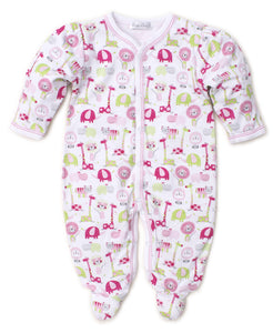 Jazzy Jungle Footie Pink