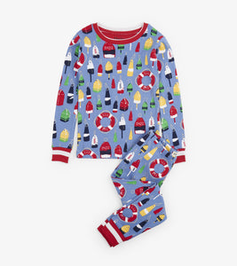 Distressed Buoys Organic Cotton Pajama Set